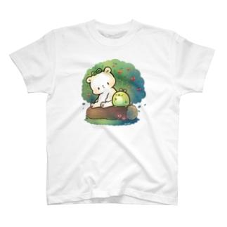 森のしろくまとエコペン T-shirts