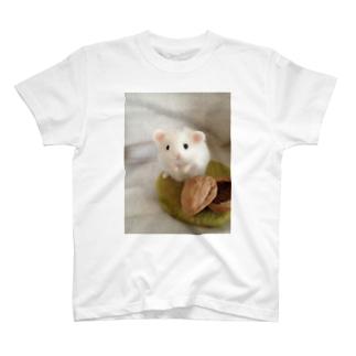 ハムちゃん(ホワイト) T-shirts