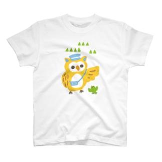 ほんわか通りのふくろうさん T-shirts