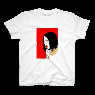 森本大百科の鍵をナイフみたいに舐める女 T-shirts