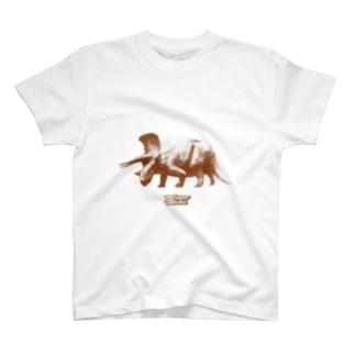 """Classic Dinosaur Graphic """"トリケラトプス"""" T-shirts"""