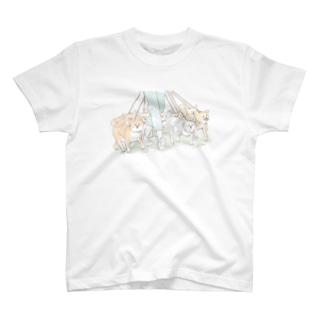 たくさんの柴犬と散歩(両面印刷) T-shirts