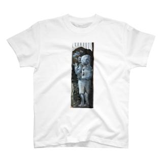 ダンボール絵「コンナオンナニダレガシタ」 T-shirts