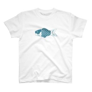 鯉のぼり(青) T-shirts