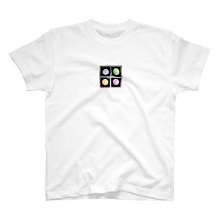 お月様のカラフルステッカー T-shirts