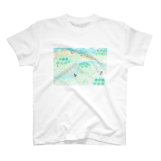 猫の遊ぶ場所 T-shirts