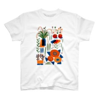 緩植物4 tシャツ T-shirts
