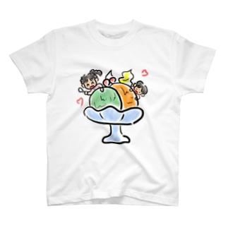 あいすくりーむ T-shirts