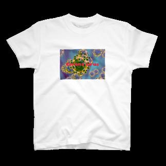 polaroid_land_1998のCoronavirus green T-shirts