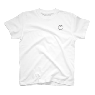 おとなしい照れた犬(極小)ミニ T-shirts
