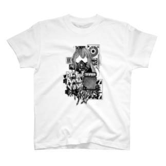 Act Anti Virus Tシャツ モノクロ T-shirts