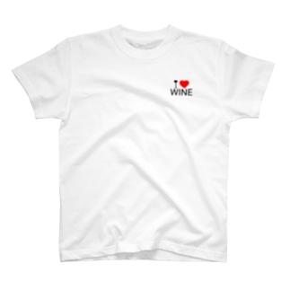 I LOVE WINE T-shirts