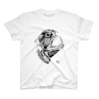 ホウライエソ(モノクロ) T-shirts