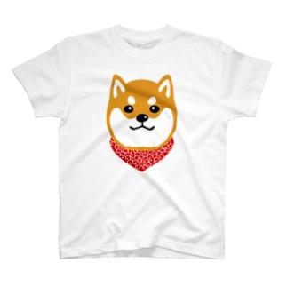 柴犬唐草(赤) T-Shirt