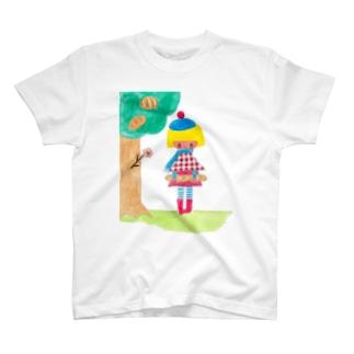 パンのなる木からおっこちたバケット T-shirts