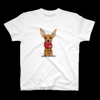PiKOLLEのKEEP CALM and LOVE MINPIN T-shirts