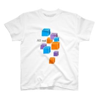 キューブ T-shirts