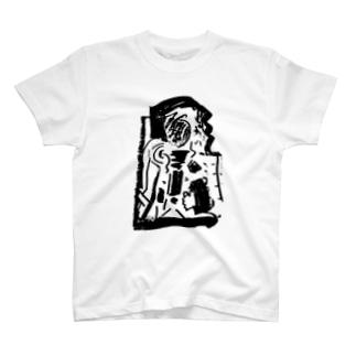 稽古中投影する T-shirts