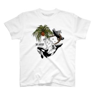 Re:kmui-レプンカムイ-のRe:kmui Holiday of Ainu 白T T-shirts
