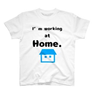 在宅勤務リモート会議用シャツ T-shirts
