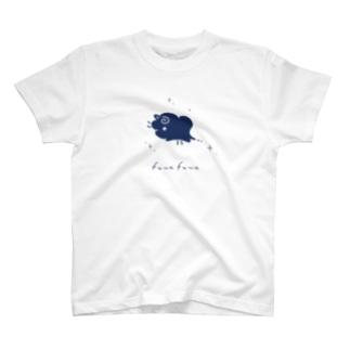 wataobiのひつじぐも・紺 T-shirts