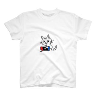 su⑤のねこゲー T-shirts