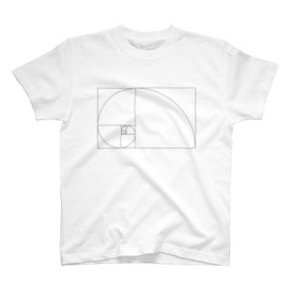 Fibonacci_Blocks T-shirts