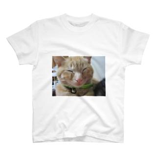 ギリ起きてます。はく T-shirts