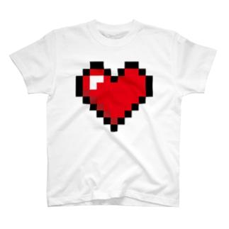 ドット絵ハート T-shirts