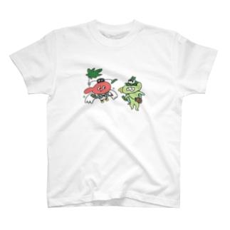 てんぐちゃんとカッパくん T-shirts