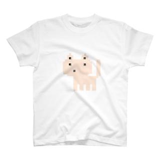 ドットネコベージュ T-shirts