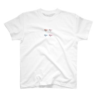 春の定番伊達メガネ 可愛い プラスチックレンズ 猫 T-shirts