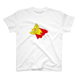 黄猫のきなこ スーパーマンになる T-shirts