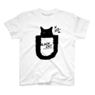 BLACK CATシリーズ2(ネコ/猫) T-shirts