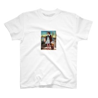 ダンボール絵「サーカスが来る町」 T-shirts