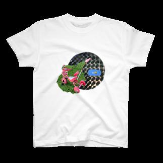 spiral__spiralの笑う自転車 T-shirts