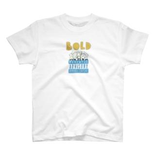 さきもとあきのぶ (イラストレーター)のbold T-shirts