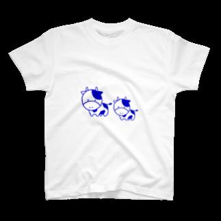 ぎゅっと。の森野牛乳 T-shirts
