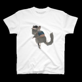 ㍻わらびモッチャのリュック見せチンチラ T-shirts