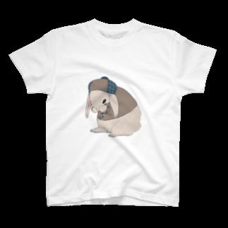 ㍻わらびモッチャのおめかし中のロップイヤー T-shirts