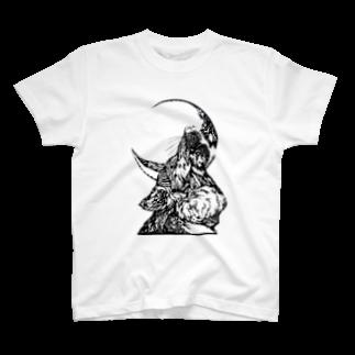 切り絵ariのWAON T-shirts