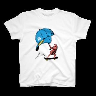 アニミタコミカの赤いカエル Standard T-shirts