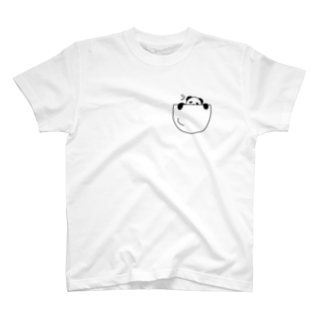 mojimojiの脱出!ポケットパンダさん T-shirts
