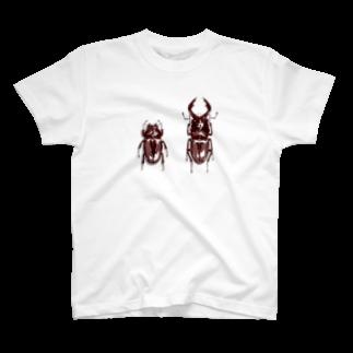 DU⊕のノコギリクワガタ(ペア) T-shirts
