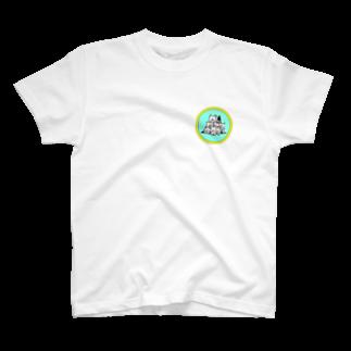 peacefulの重ね犬 T-shirts