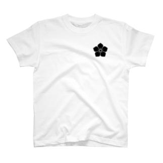 明智家の家紋(桔梗) T-shirts