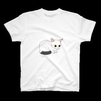 atelier rainyの見つめるしっぽちゃん T-shirts