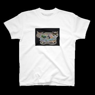 Print items/山中綾子のおくりもの(猫箱) T-shirts