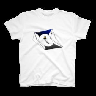 Littleきゃんぷサイトの星空タープくん T-shirts