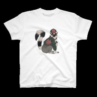 ㍻わらびモッチャのワオギツネザルワーオー! T-shirts